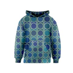 Blue Circles Kids  Pullover Hoodie by TimelessFashion