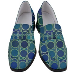Blue Circles Women s Chunky Heel Loafers by TimelessFashion