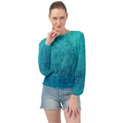 Blue Destiny Banded Bottom Chiffon Top by TimelessFashion