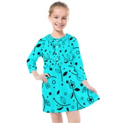 Blue Garden Kids  Quarter Sleeve Shirt Dress by TimelessFashion
