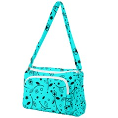 Blue Garden Front Pocket Crossbody Bag by TimelessFashion