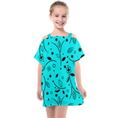Blue Garden Kids  One Piece Chiffon Dress by TimelessFashion
