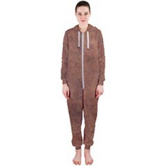 Brown Effect Hooded Jumpsuit (ladies)  by TimelessFashion