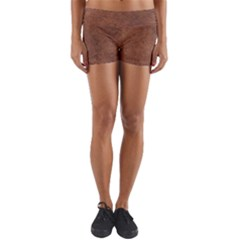 Brown Effect Yoga Shorts by TimelessFashion