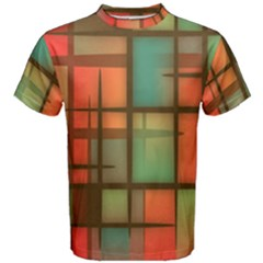Chaos In Red And Green Men s Cotton Tee