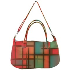 Chaos In Red And Green Removal Strap Handbag