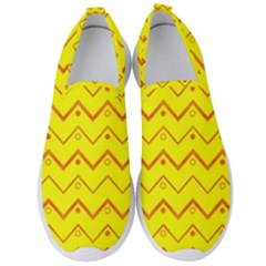 Chevron In Yellow Men s Slip On Sneakers by TimelessFashion