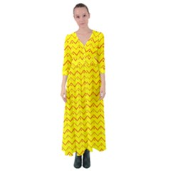 Chevron In Yellow Button Up Maxi Dress by TimelessFashion