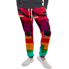 Colorful Abstract  Men s Jogger Sweatpants by TimelessFashion