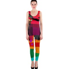 Colorful Abstract  One Piece Catsuit by TimelessFashion