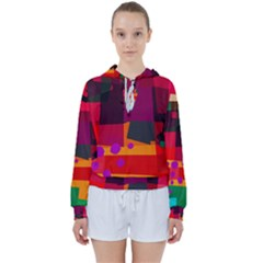 Colorful Abstract  Women s Tie Up Sweat by TimelessFashion