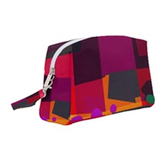 Colorful Abstract  Wristlet Pouch Bag (medium) by TimelessFashion