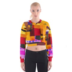Colorful Abstract  Cropped Sweatshirt by TimelessFashion