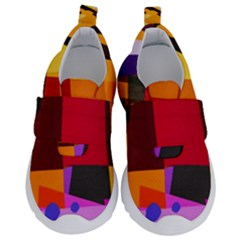 Colorful Abstract  Kids  Velcro No Lace Shoes