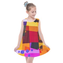 Colorful Abstract  Kids  Summer Dress by TimelessFashion