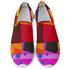 Colorful Abstract  Men s Slip On Sneakers by TimelessFashion