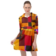 Colorful Abstract  Mini Skater Shirt Dress by TimelessFashion