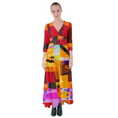 Colorful Abstract  Button Up Maxi Dress by TimelessFashion