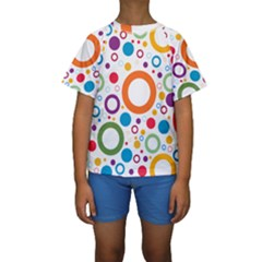 Colorful Circles  Kids  Short Sleeve Swimwear by TimelessFashion