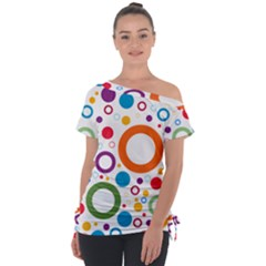 Colorful Circles  Tie Up Tee by TimelessFashion