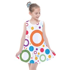 Colorful Circles  Kids  Summer Dress by TimelessFashion