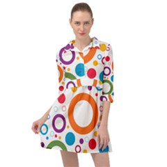 Colorful Circles  Mini Skater Shirt Dress by TimelessFashion