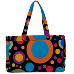 Colorful Circles Canvas Work Bag by TimelessFashion