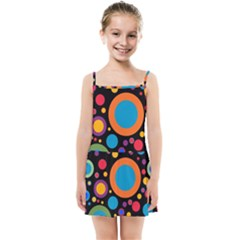 Colorful Circles Kids  Summer Sun Dress by TimelessFashion