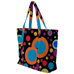 Colorful Circles Zip Up Canvas Bag by TimelessFashion