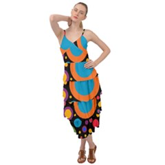 Colorful Circles Layered Bottom Dress by TimelessFashion