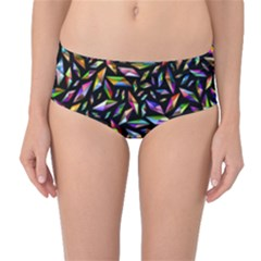 Colorful Diamonds Mid Waist Bikini Bottoms by TimelessFashion