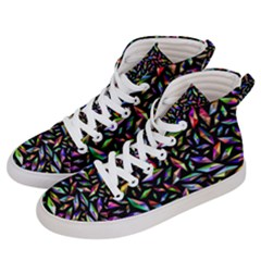 Colorful Diamonds Men s Hi Top Skate Sneakers by TimelessFashion