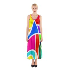Colory Chaos Sleeveless Maxi Dress by TimelessFashion
