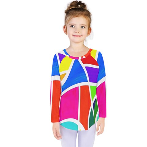 Colory Chaos Kids  Long Sleeve Tee by TimelessFashion