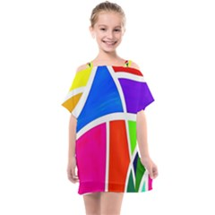 Colory Chaos Kids  One Piece Chiffon Dress by TimelessFashion