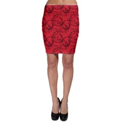Curly In Red Bodycon Skirt