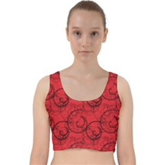 Curly In Red Velvet Racer Back Crop Top
