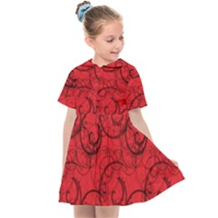 Curly In Red Kids  Sailor Dress by TimelessFashion