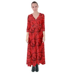 Curly In Red Button Up Maxi Dress by TimelessFashion