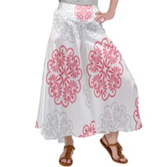 Cute Floral Design Satin Palazzo Pants by TimelessFashion
