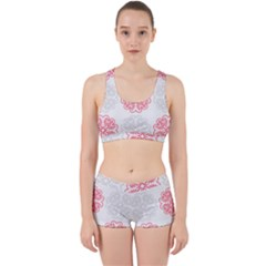 Cute Floral Design Work It Out Gym Set