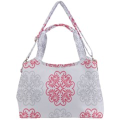 Cute Floral Design Double Compartment Shoulder Bag by TimelessFashion