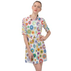 Cute Garden Belted Shirt Dress by TimelessFashion