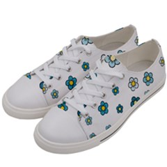 Cute Little Flowers Women s Low Top Canvas Sneakers by TimelessFashion