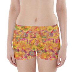 Faded Flowers Boyleg Bikini Wrap Bottoms by TimelessFashion