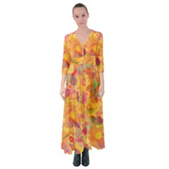 Faded Flowers Button Up Maxi Dress by TimelessFashion