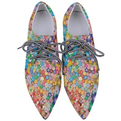 Floral Desire Pointed Oxford Shoes