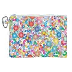 Flower Field Canvas Cosmetic Bag (xl) by TimelessFashion