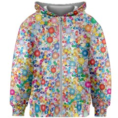 Flower Field Kids  Zipper Hoodie Without Drawstring by TimelessFashion