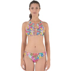 Flower Mix Perfectly Cut Out Bikini Set by TimelessFashion